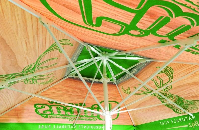 Internal view of Umbrellas & Parasols Promotional Aluminium Steel Parasol