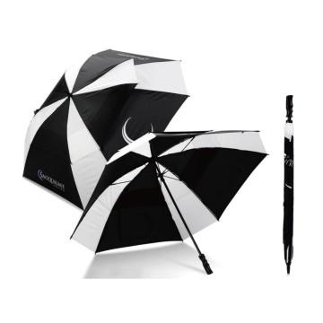 Uber Brolly square vented golf branded umbrella