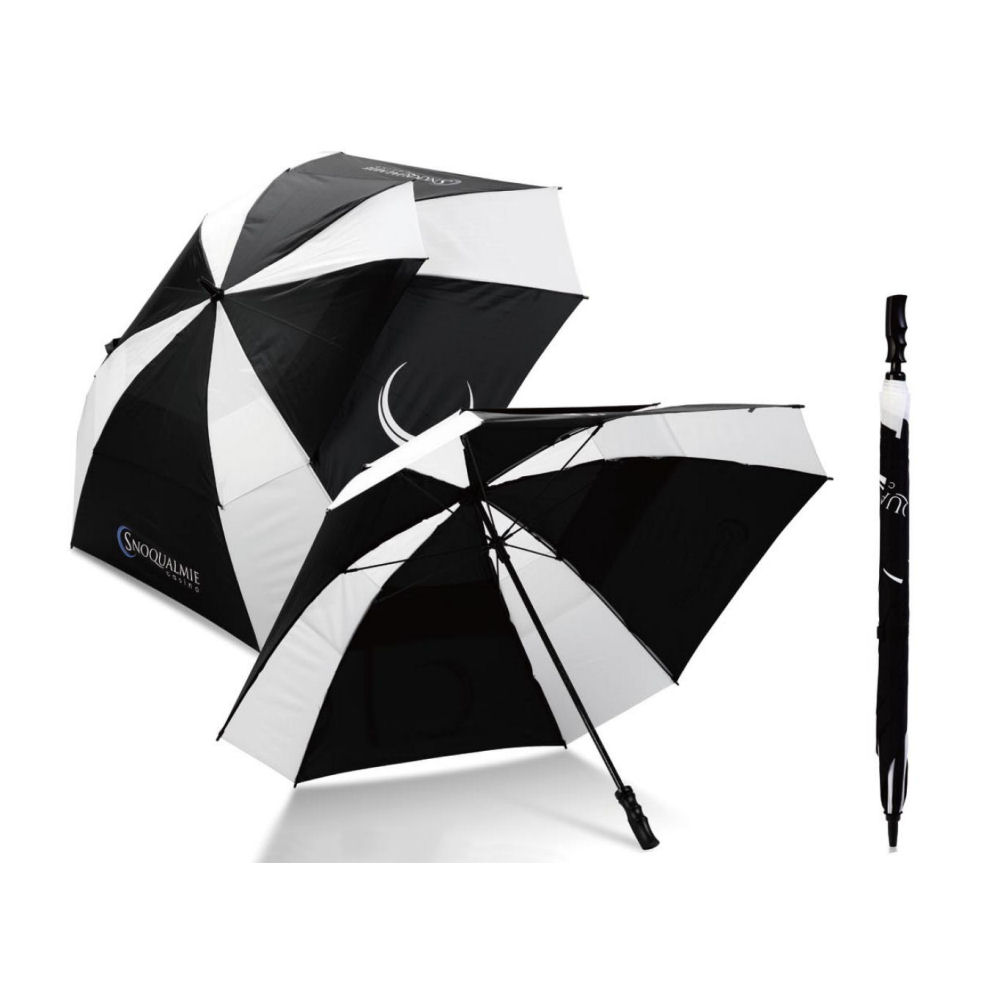 Uber Brolly square vented golf branded umbrella