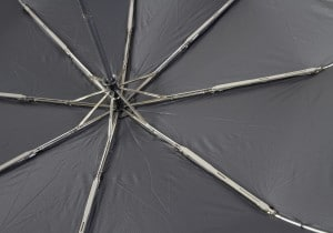 Reinforced ribs for telescopic umbrella