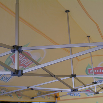 Umbrellas & Parasols inside branded gazebo