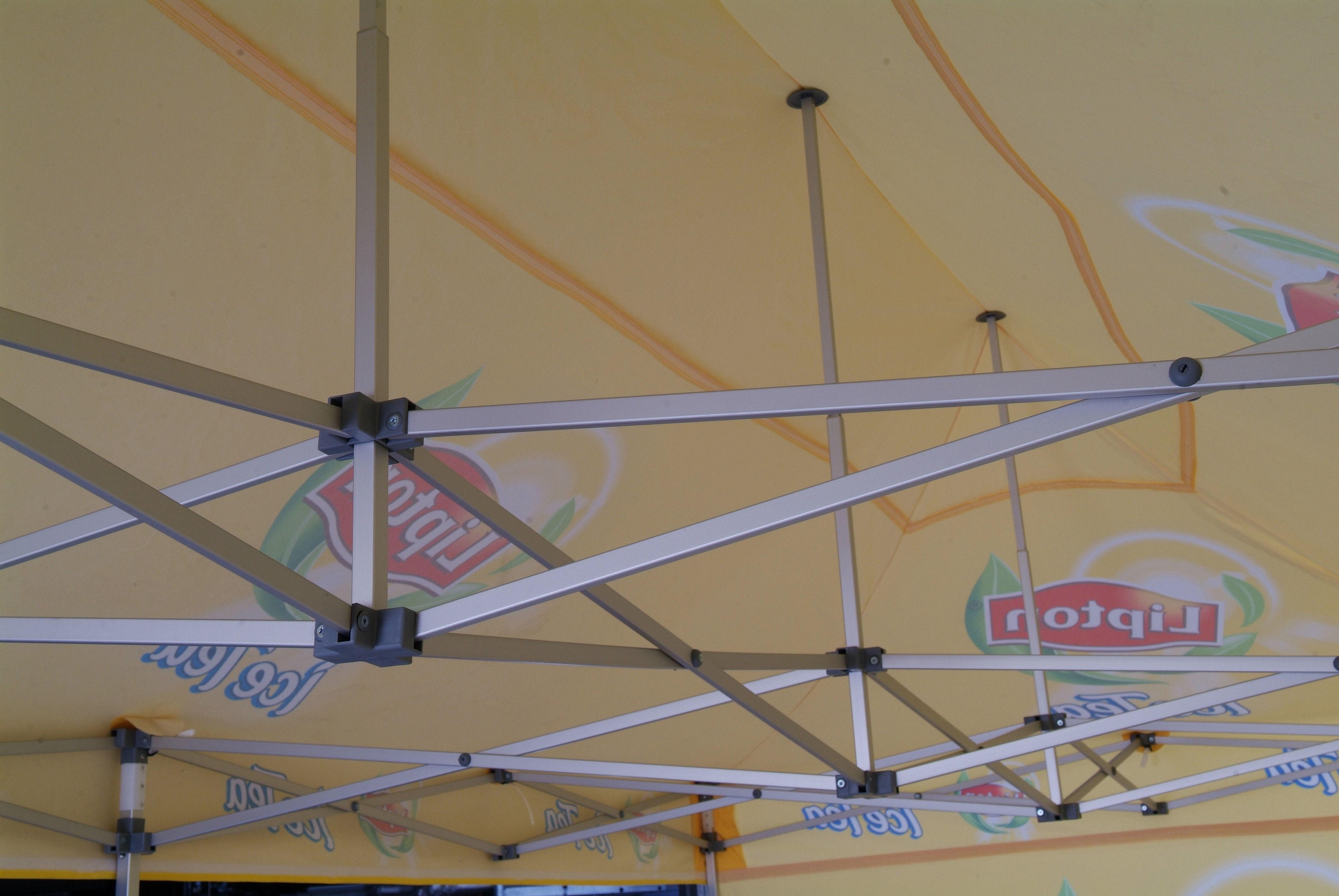 Umbrellas & Parasols inside branded gazebo