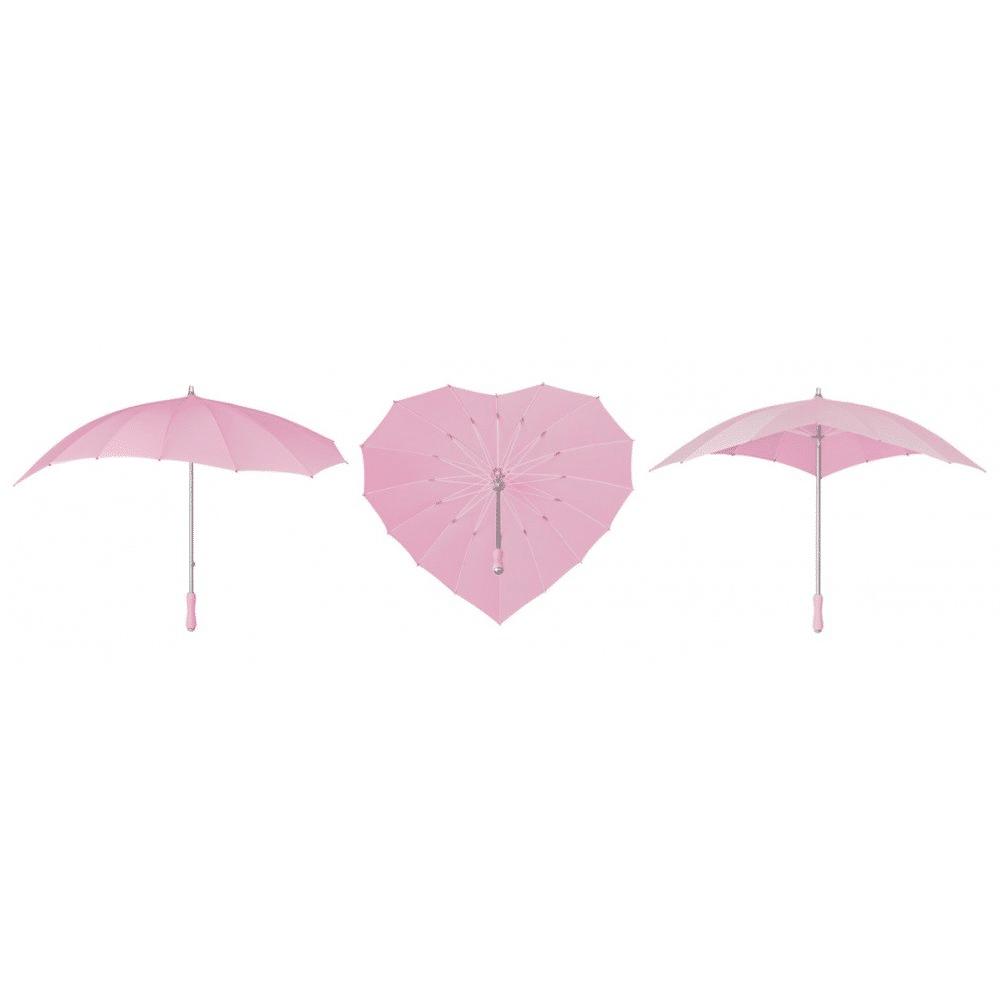 pink heart umbrella by umbrellas and parasols