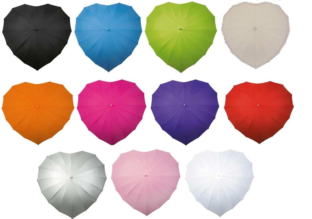 heart umbrella colour choices