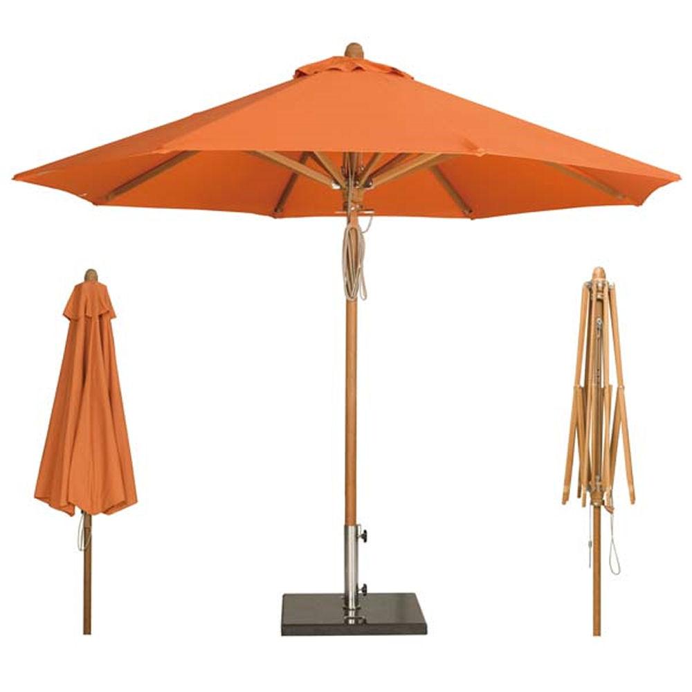 umbrellas parasols teak parasol. Black Bedroom Furniture Sets. Home Design Ideas