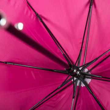 Fibre-glass ribs of a promotional umbrella