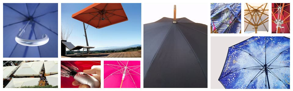 Promotional parasols and branded umbrellas