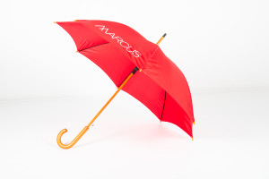 Budget Wooden Walker Promotional Umbrella