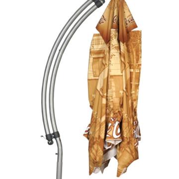 Über Brolly Aluminium Hanging Branded Parasol Closed