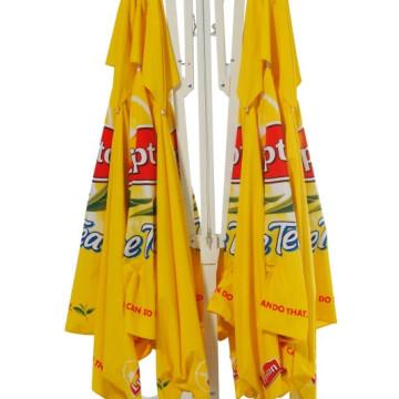 Über Brolly Quadra Hanging Branded Parasol Closed