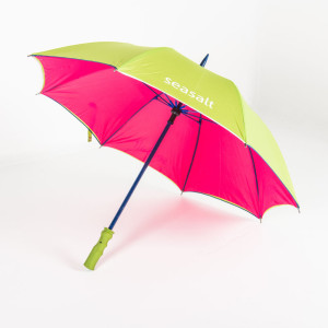 Double canopy Über Brolly Mini Golf branded umbrella