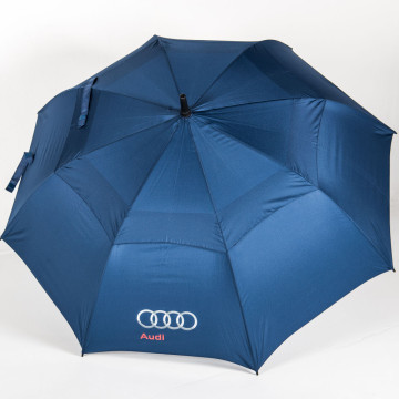 Über Brolly Vented Golf branded umbrella's canopy