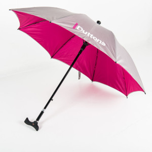 Branded Adjustable Walker Umbrella from Umbrella & Parasols