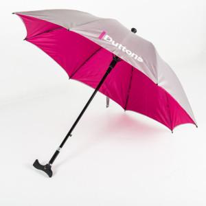Branded Adjustable Walker Umbrella from Umbrella & Parasols