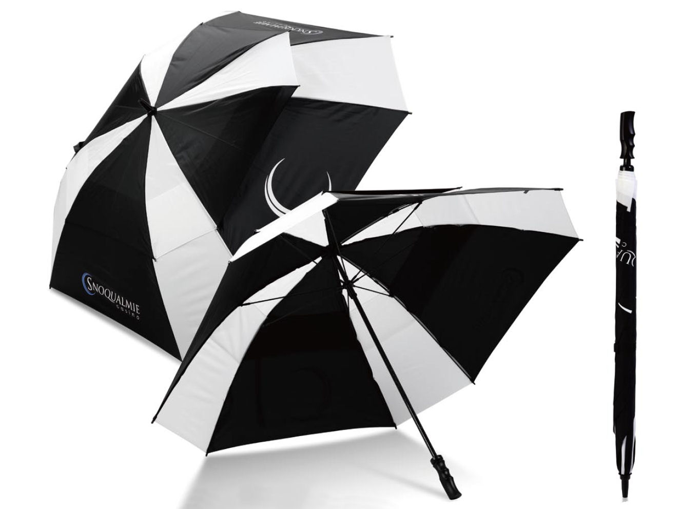 Uber Brolly Square Vented Golf Promotional Umbrella