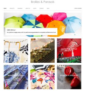 Umbrellas & Parasols Website