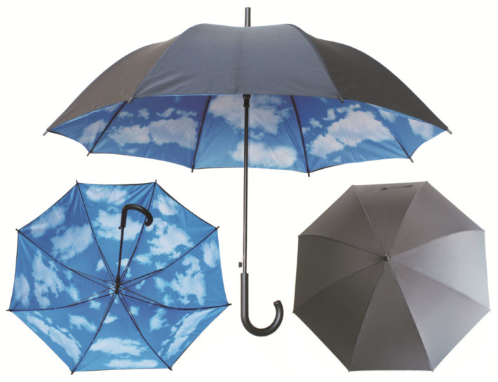 Promotional Umbrella with Printed Double Layered Canopy