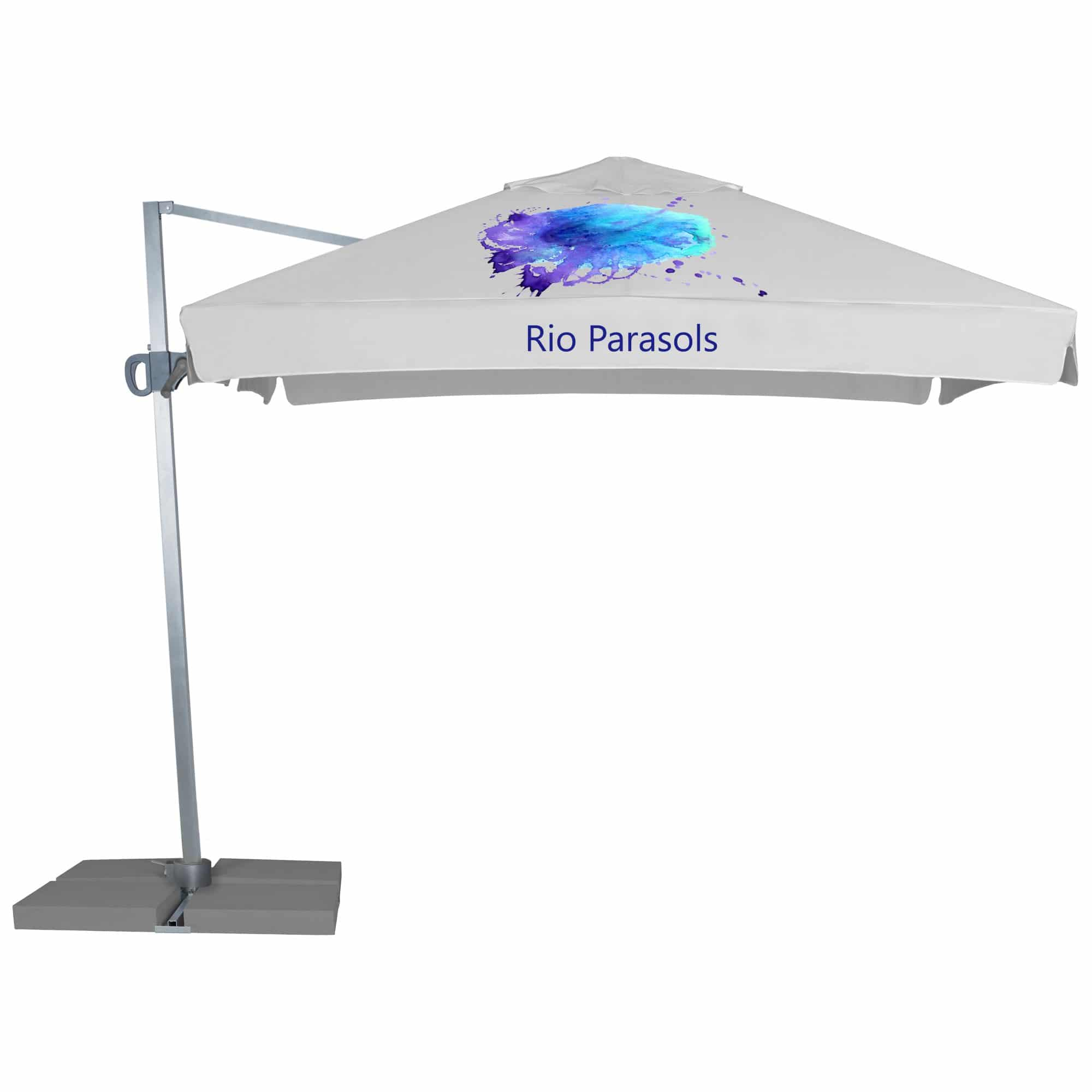 Branded Parasols 3m Cantilever with Valance