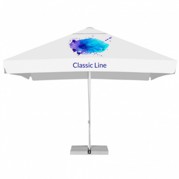 Printed Parasols Large Aluminum - square with valance