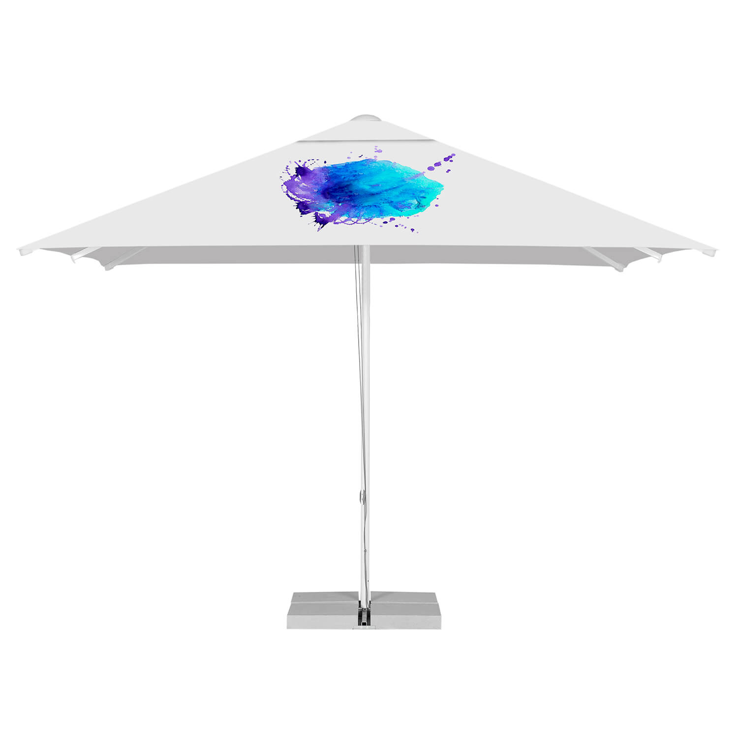 Printed Parasols B&P Large Aluminum - square