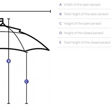 Branded Parasol B&P Large Cantilever 3.5m x 3.5m