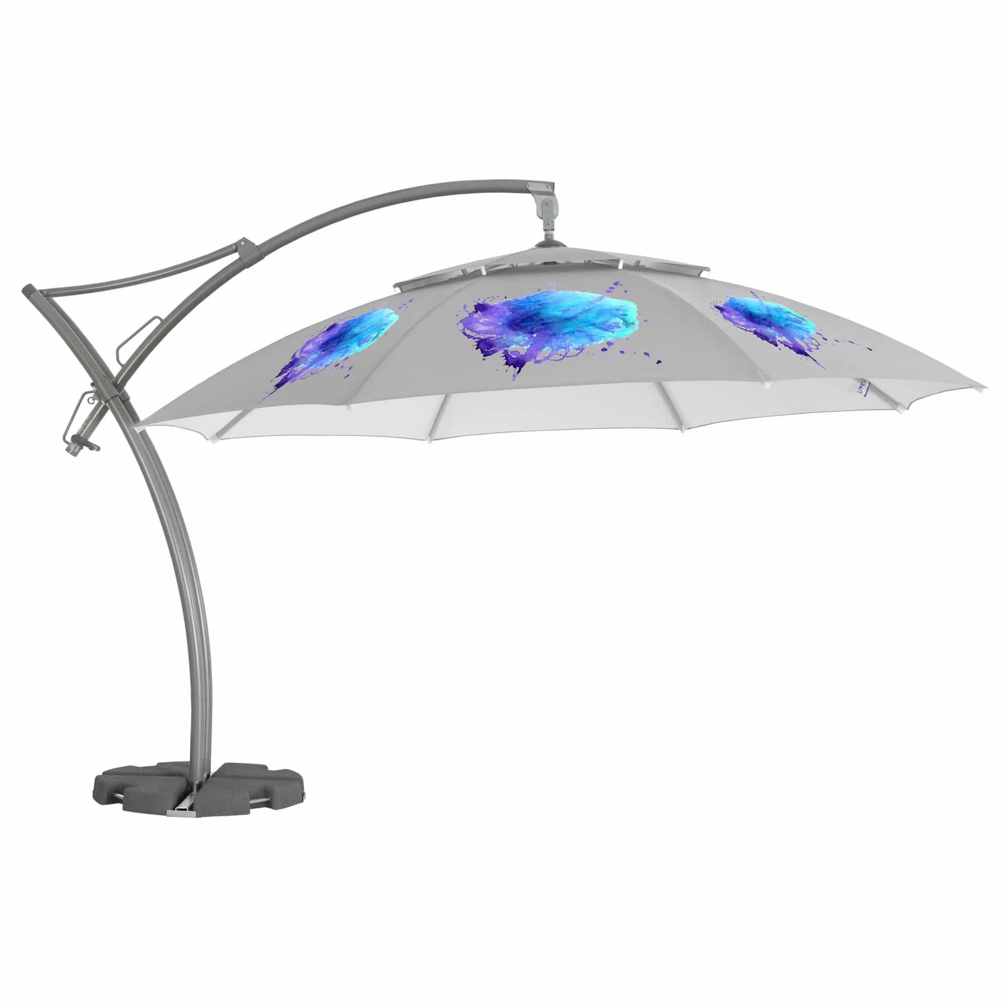Promotional parasols - large cantilever 4.2m