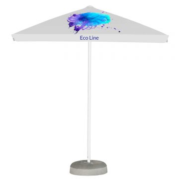 Promotional Parasols Small Aluminium 2m x 2m with valance