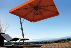 Branded Parasols Uber Aluminium Cantilever Poolside