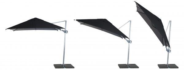 Black canopy Promotional parasols cantilever 3m x 3m