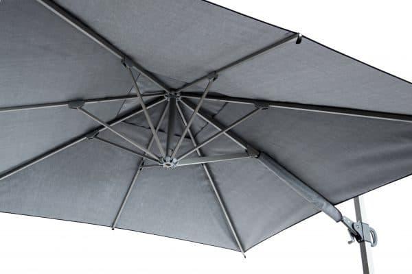 Promotional parasols cantilever 3m x 3m interior