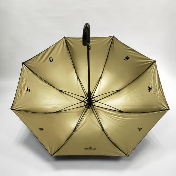 Branded Umbrellas Metallic Interior