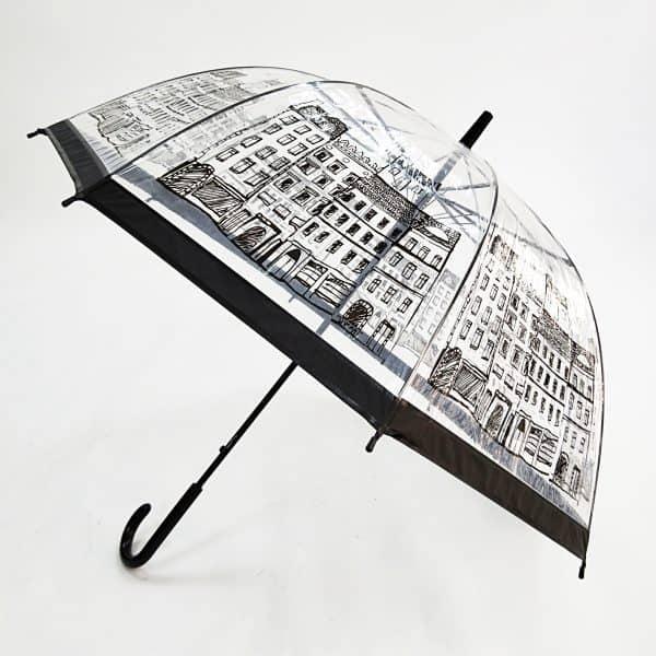 Promotional Umbrellas – PVC Dome Automatic City Walker Umbrella Printed