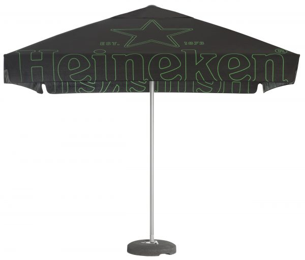 Branded parasols - with easy up opening printed