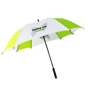 Printed Umbrellas - Uber Fibreglass Square Golf