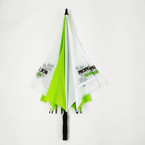 Printed Umbrellas - Uber Fibreglass Square Golf Closed