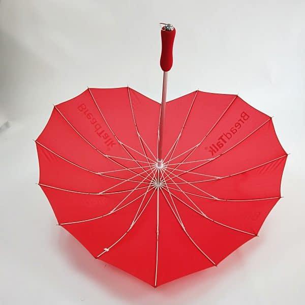 Promotional Umbrellas – Branded Uber Heart Umbrella - Interior