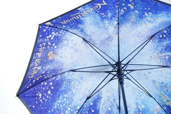 Printed umbrellas with printed double canopy