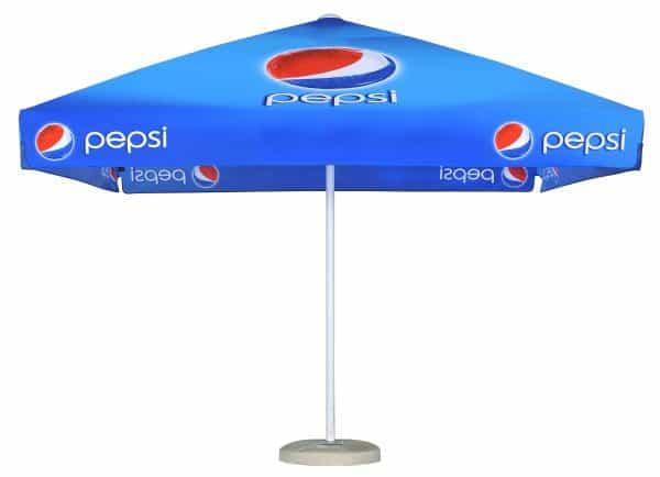 Promotional Parasols Ultra Strong Aluminium branded parasol