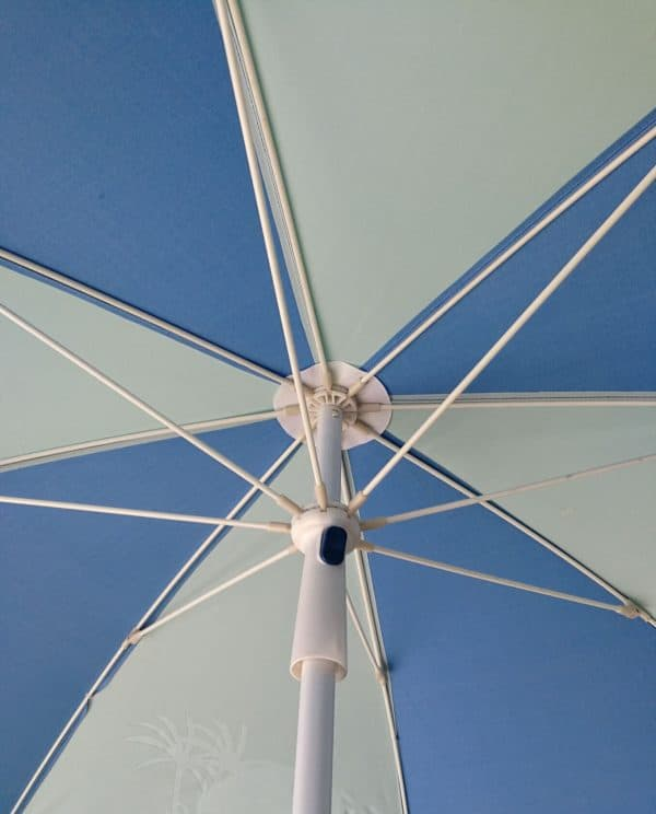 Opening system fibreglass rib pub promotional parasols