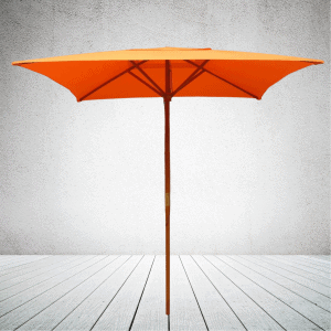 Branded Parasols_ECO Wooden Square Parasol Pantone matched