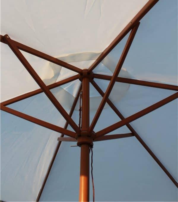 Brande Parasols_ECO Wooden Round Parasol ECO ribs