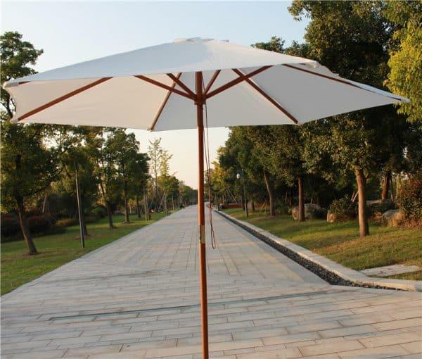 Branded Parasols ECO Wooden Parasol printed