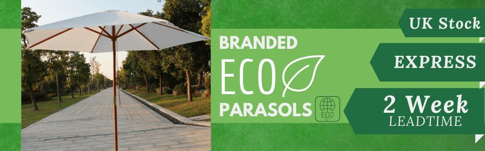 Eco branded Parasols