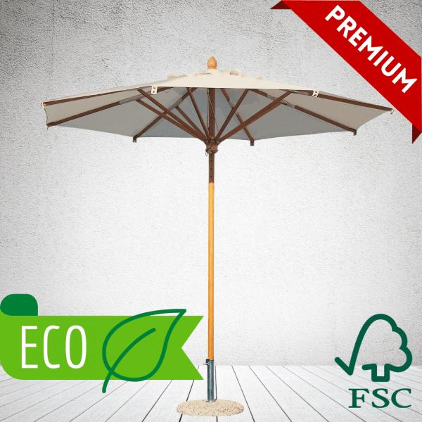 Commercial Parasols - eco FSC wood parasols round