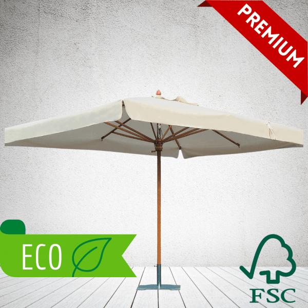 Commercial Parasols - eco FSC wood parasols