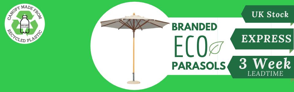 Eco Commercial Parasols printed parasols in 3 weeks