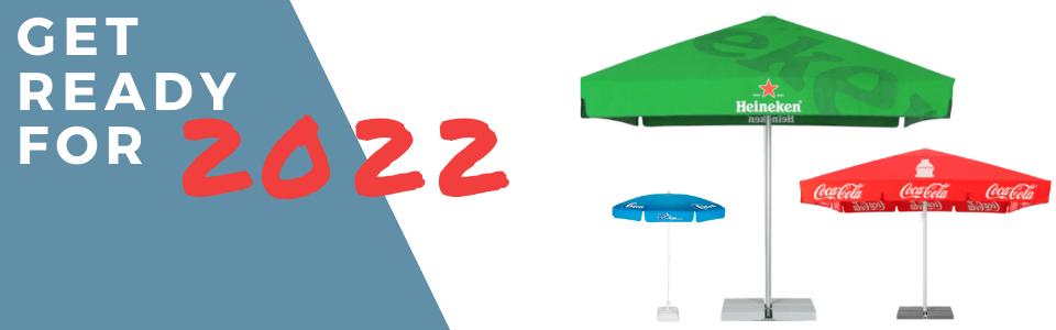 Printed parasols 2022 commercial parasols